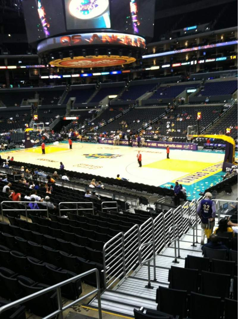 Seating view for Staples Center Section 108 Row 18w Seat 27