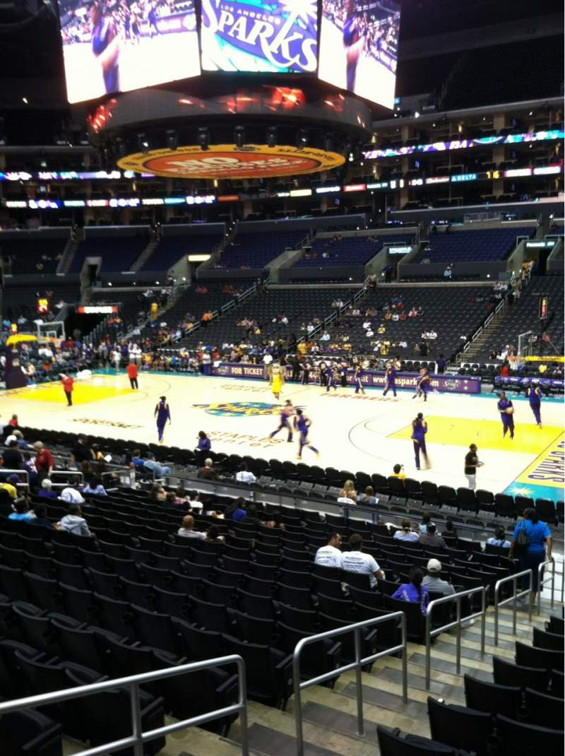 Seating view for Staples Center Section 109 Row 18 Seat 10