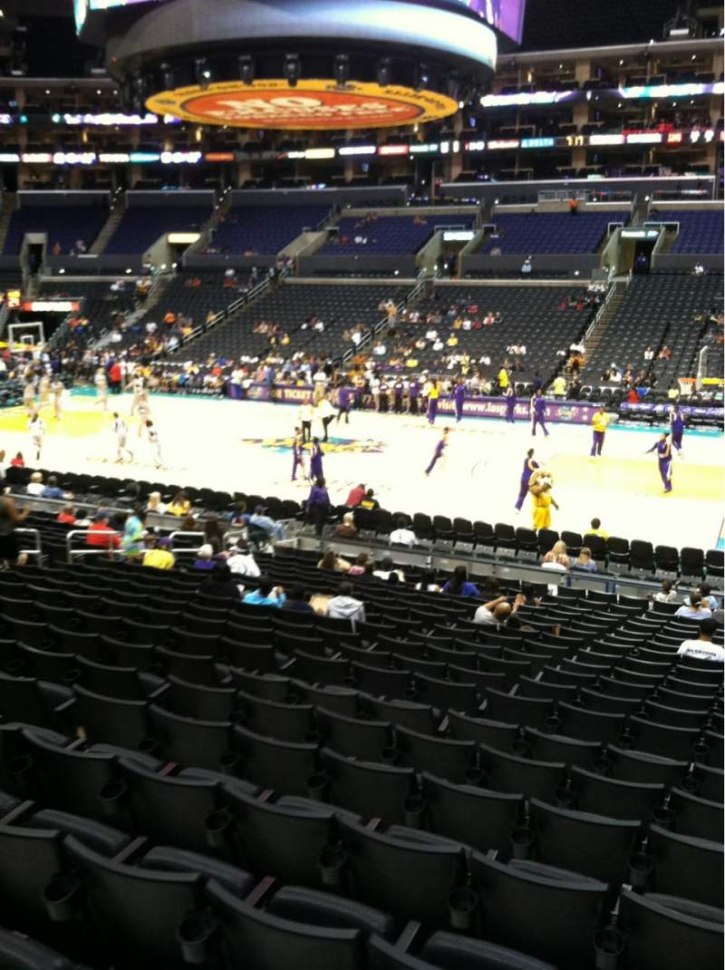Seating view for Staples Center Section 110 Row 20 Seat 3