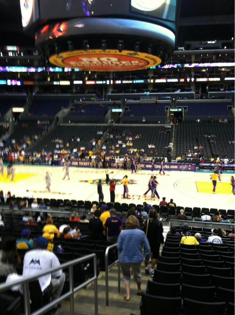 Seating view for Staples Center Section 110 Row 19 Seat 20