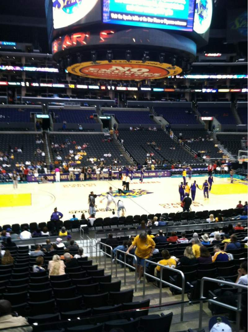 Seating view for Staples Center Section 112 Row 18 Seat 3