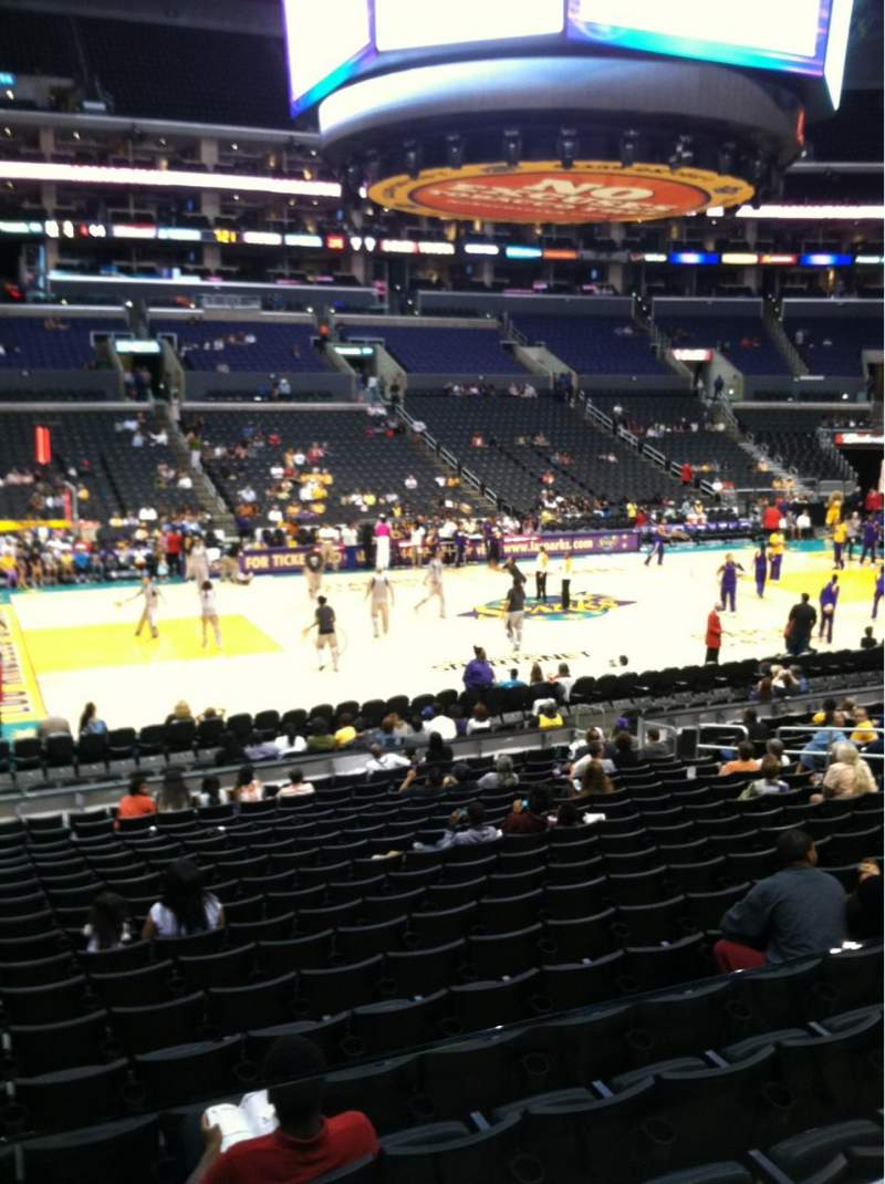 Seating view for Staples Center Section 112 Row 18 Seat 14
