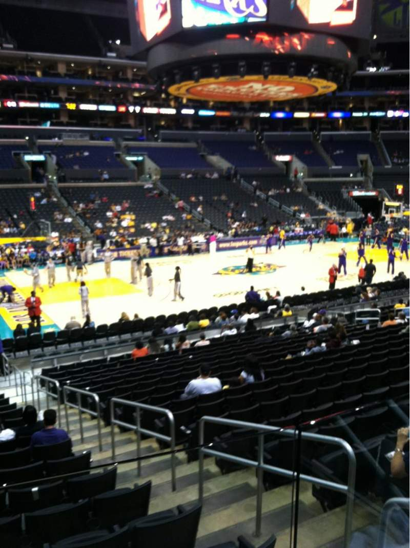 Seating view for Staples Center Section 113 Row 18 Seat 2