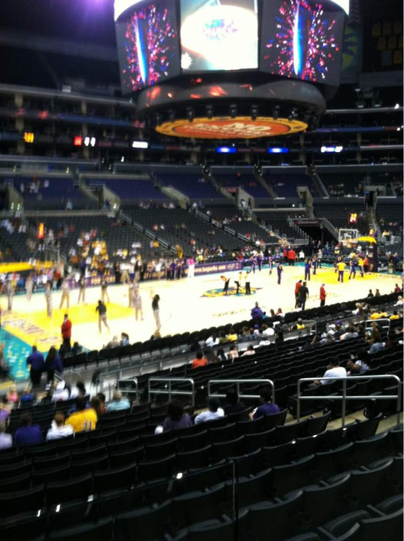 Seating view for Staples Center Section 113 Row 18 Seat 10
