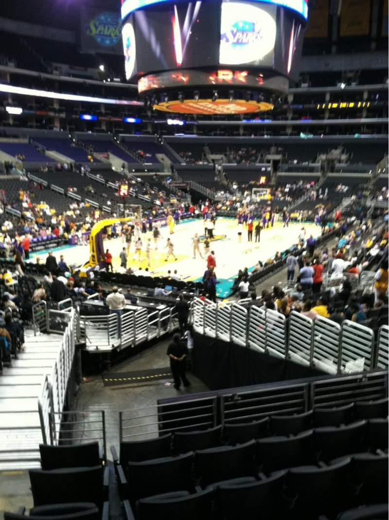 seat 114, - 33 section  Angeles Los Center, row 20, Staples