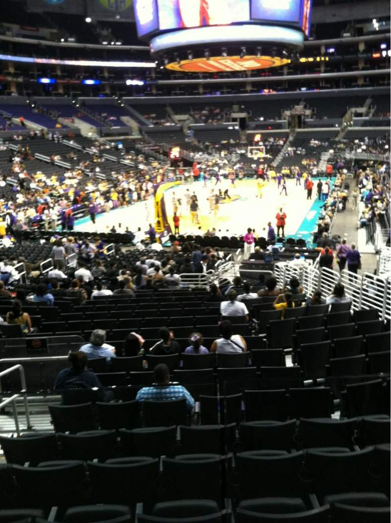 Seating view for Staples Center Section 115 Row 18 Seat 10