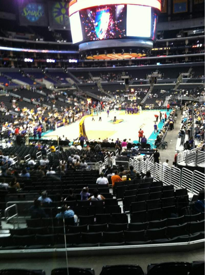 Seating view for Staples Center Section 215 Row 2 Seat 8