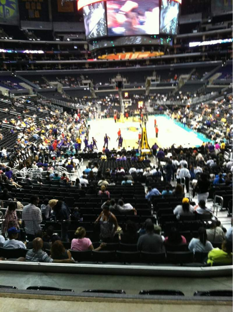 Seating view for Staples Center Section 217 Row 2 Seat 2