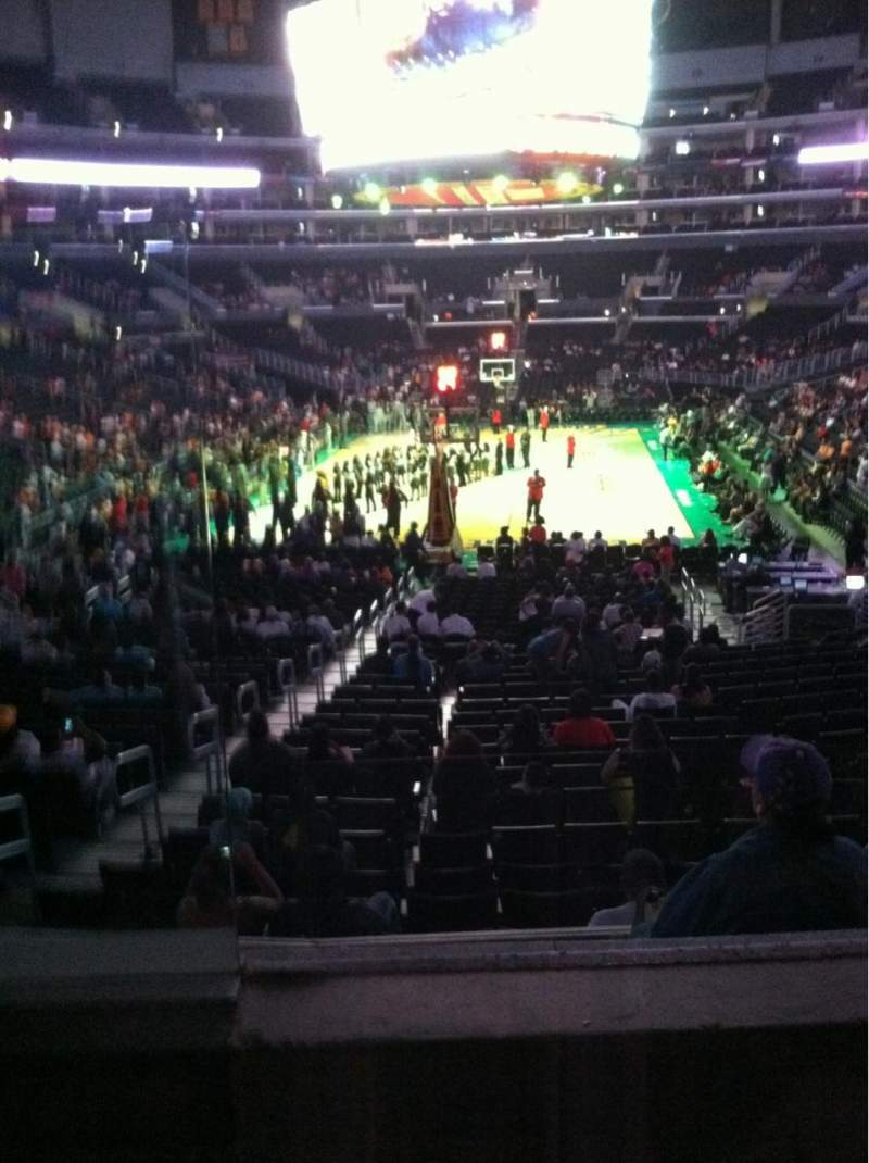 Seating view for Staples Center Section 216 Row 2 Seat 9