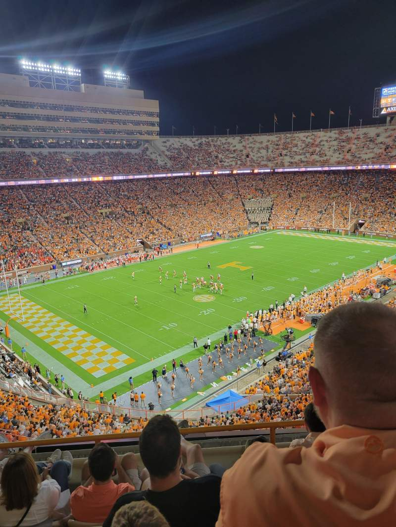 Seating view for Neyland Stadium Section XX3 Row 5 Seat 16-17