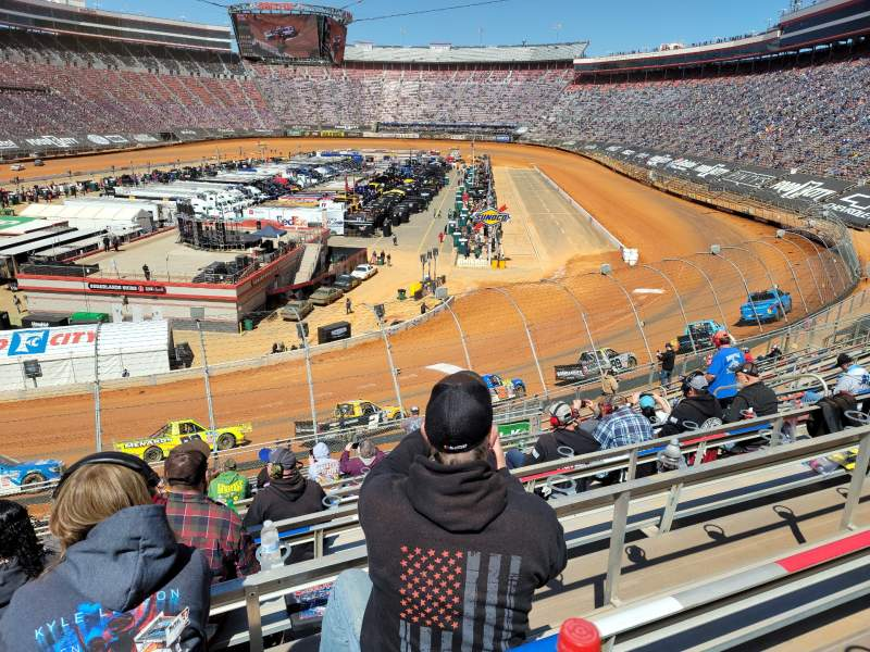 Seating view for Bristol Motor Speedway Section Waltrip L Row 20 Seat 11