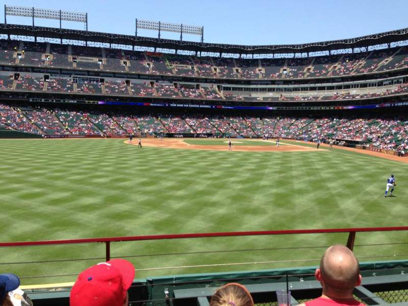 Seating view for Globe Life Park in Arlington Section 4 Row 3 Seat 8