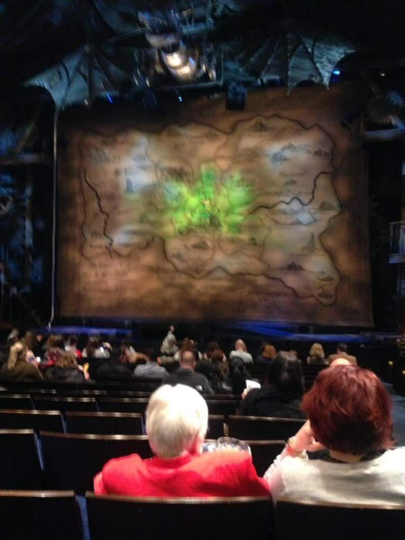 Seating view for Gershwin Theatre Section Orchestra C Row L Seat 118
