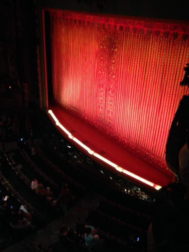 Seating view for New Amsterdam Theatre Section BOX 10 Seat A