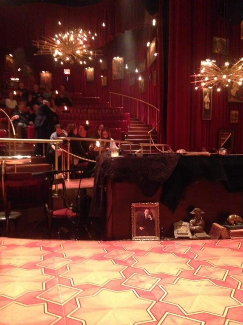 Seating view for Imperial Theatre Section Onstage Row Stools Seat SB 1