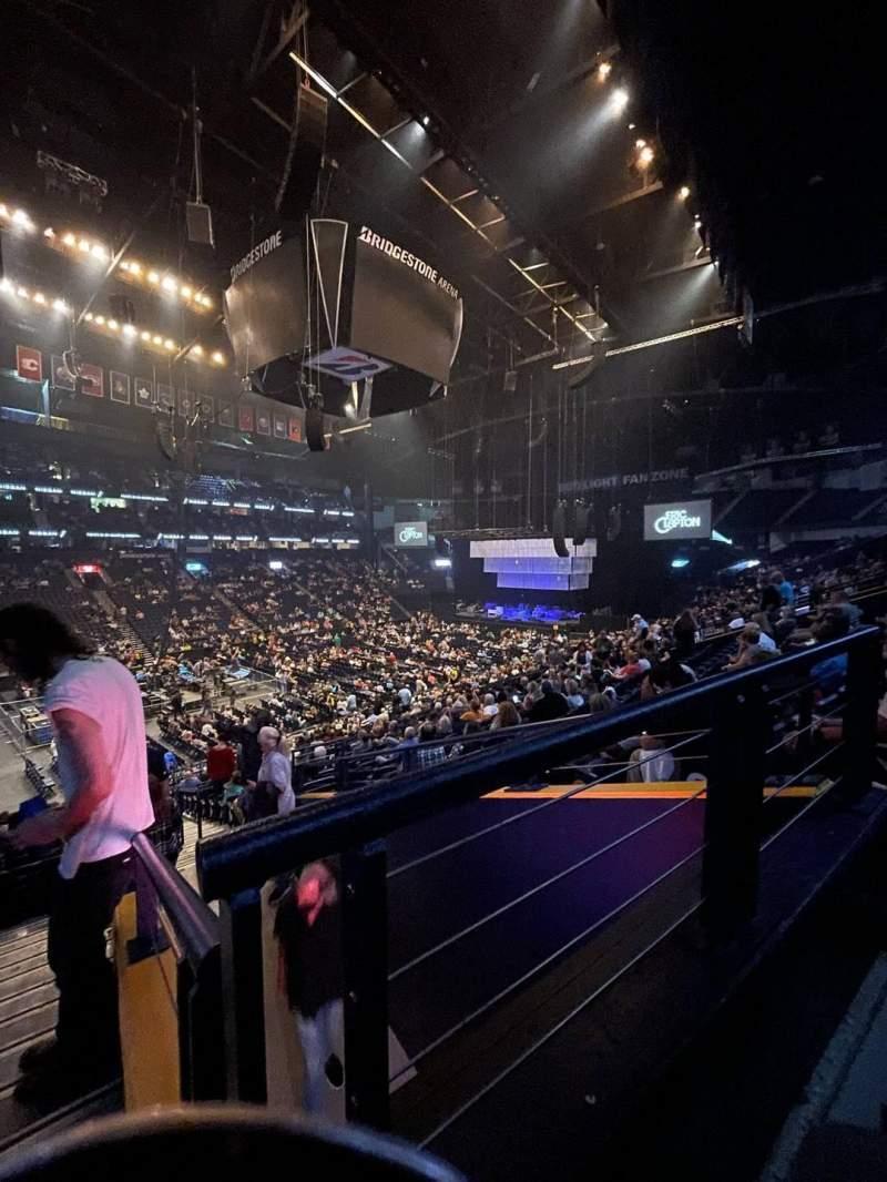 Seating view for Bridgestone Arena Section 104 Row P Seat 26