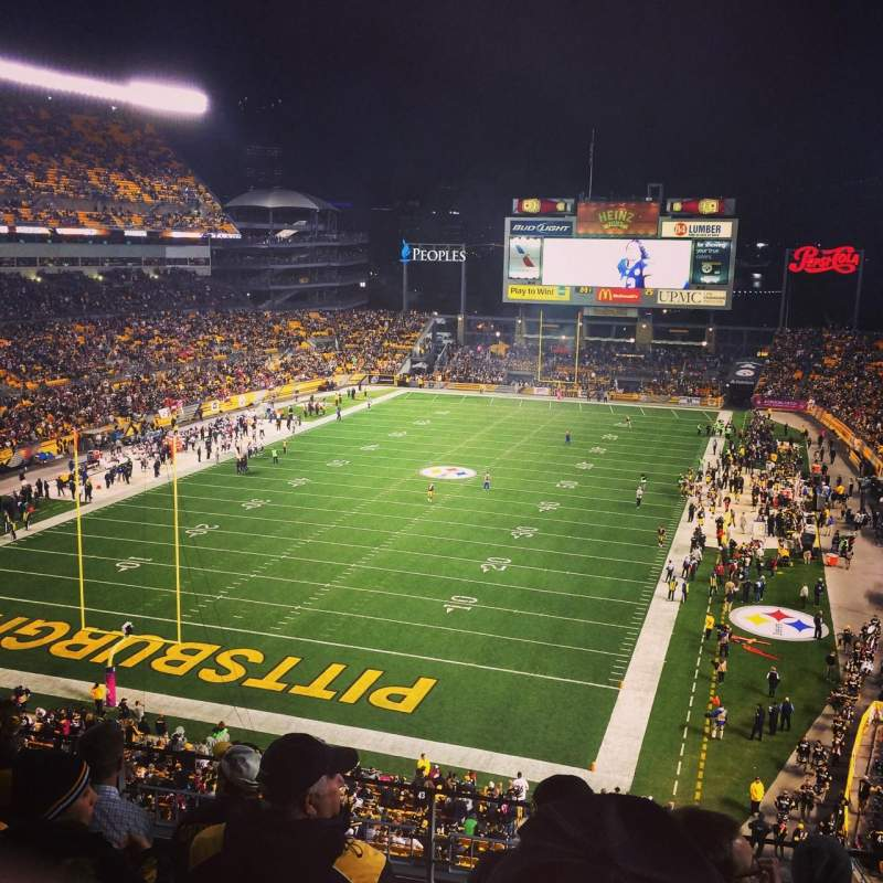Seating view for Heinz Field Section 525 Row E Seat 17