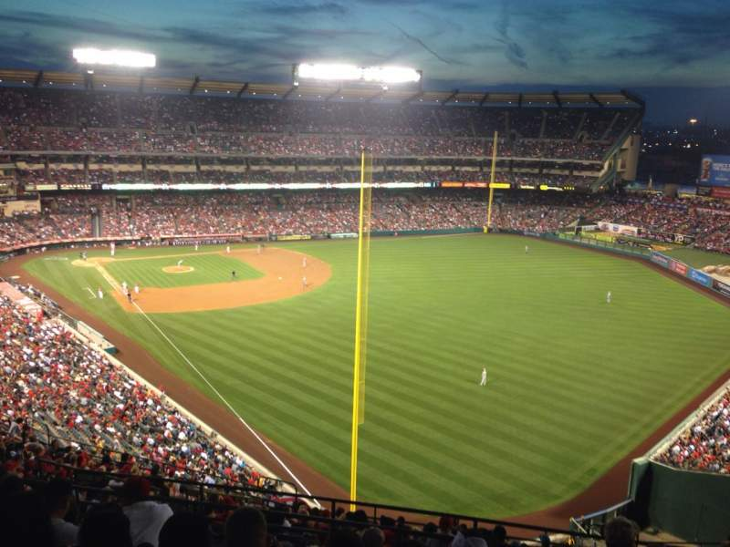 Seating view for Angel Stadium Section V537 Row G Seat 18