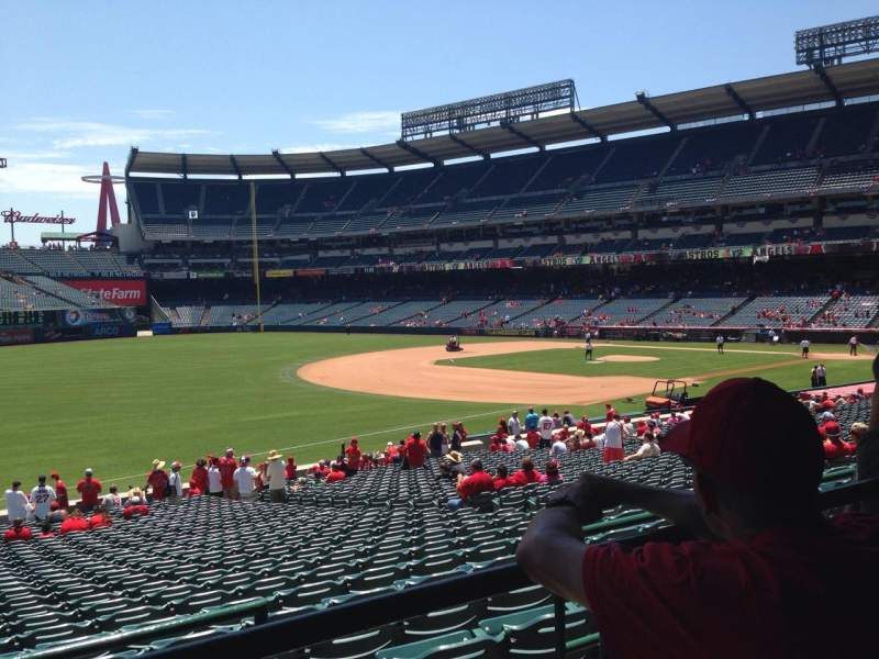 Seating view for Angel Stadium Section T207 Row B Seat 21