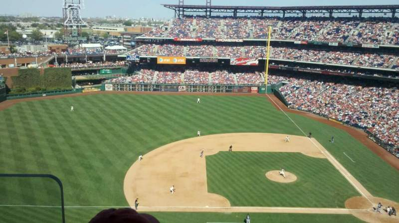 Seating view for Citizens Bank Park Section 425 Row 12 Seat 10