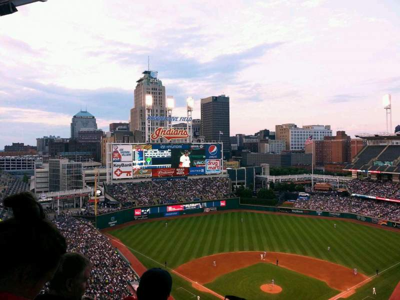 Seating view for Progressive Field Section 555 Row W Seat 4