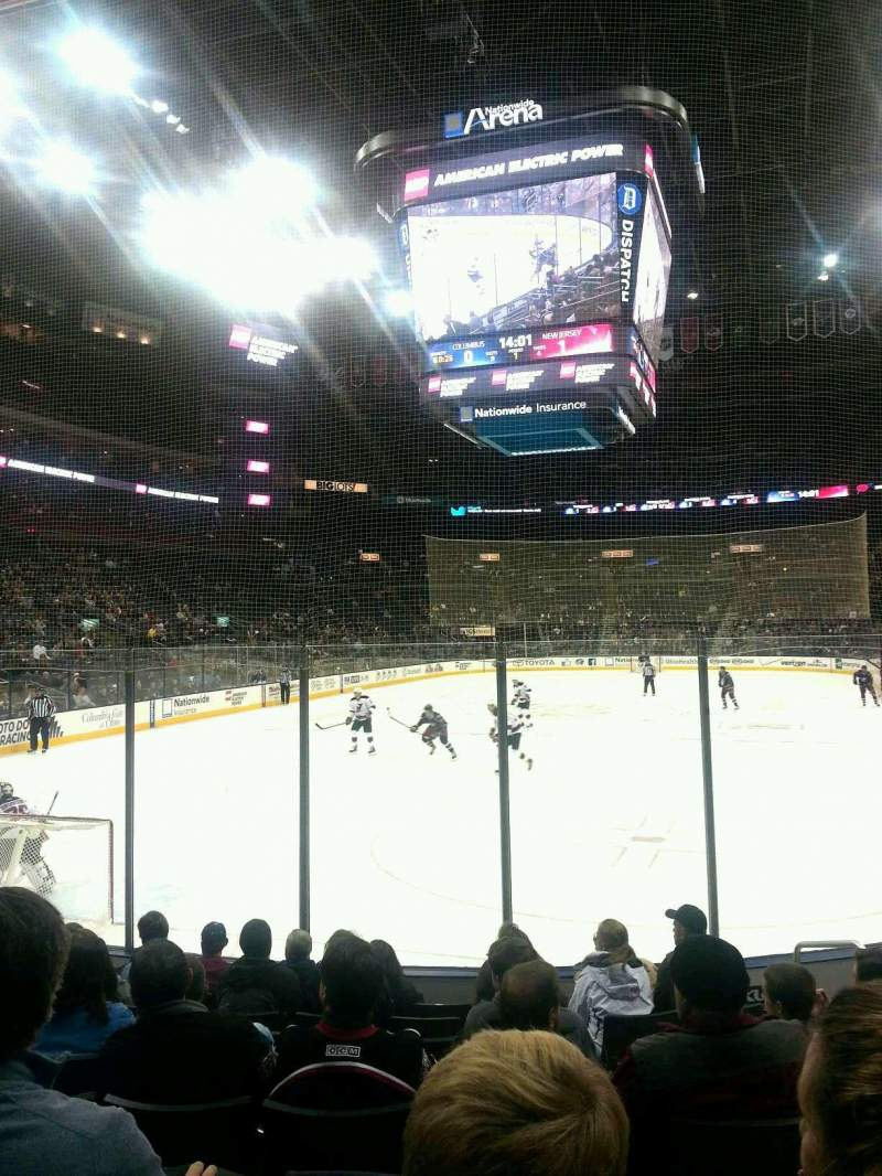 Seating view for Nationwide Arena Section 108 Row J Seat 108
