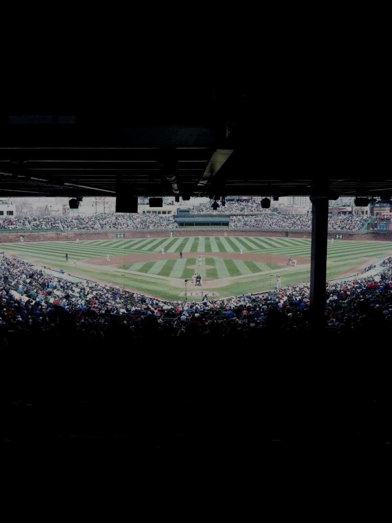 Seating view for Wrigley Field Section 222 Row 22 Seat 112