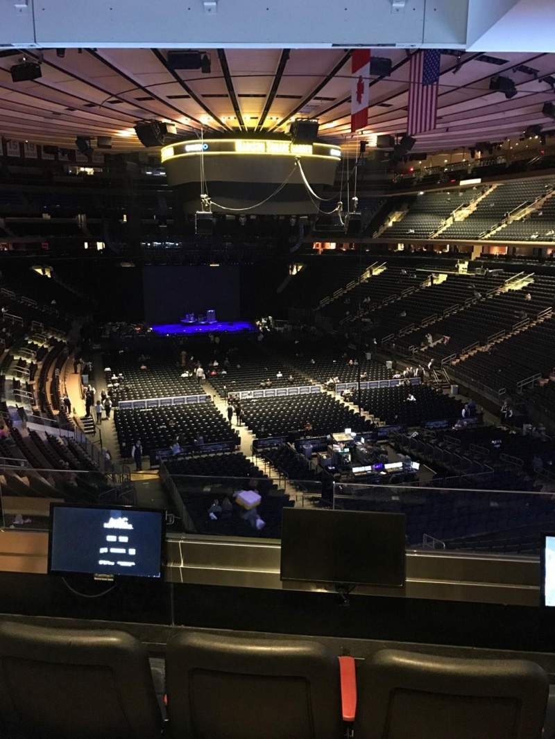 Seating view for Madison Square Garden Section 203 Row 3 Seat 3