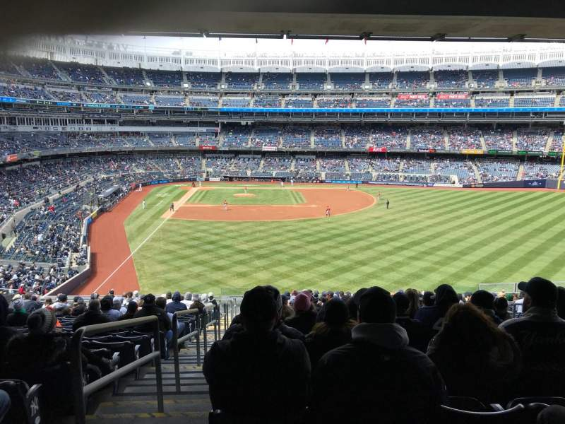 Seating view for Yankee Stadium Section 205 Row 18 Seat 1
