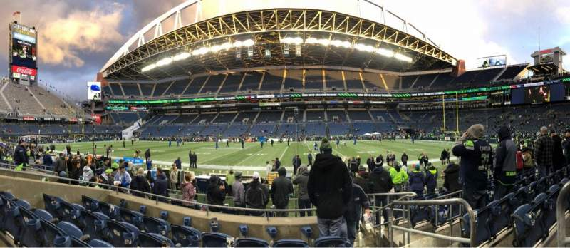CenturyLink Field, section: 134, row: I, seat: 1