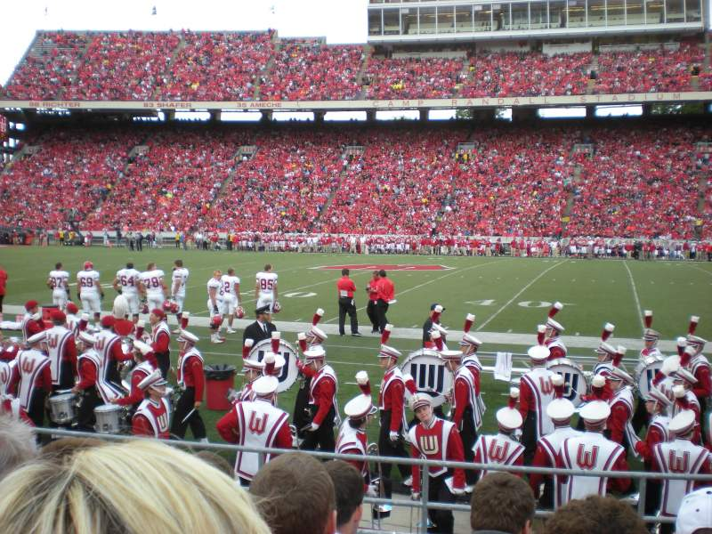 Seating view for Camp Randall Stadium Section U Row 1