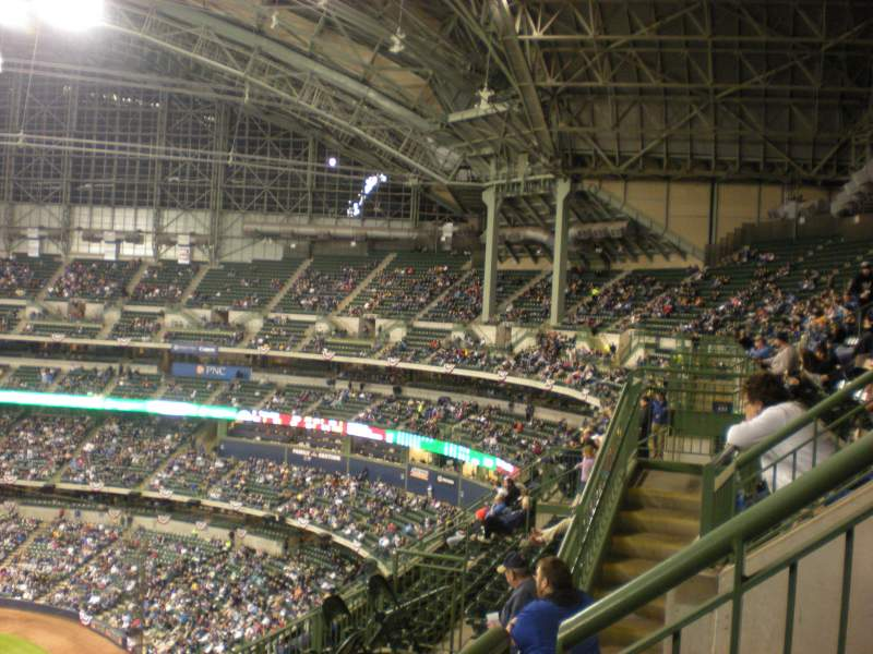 Seating view for Miller Park Section 432 Row 17 Seat 1