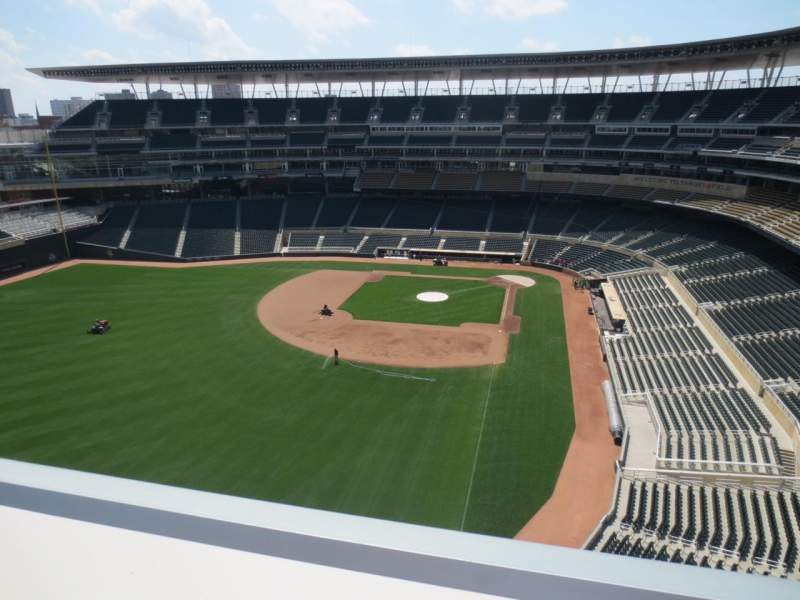 Seating view for Target Field Section Budweiser Roof Deck