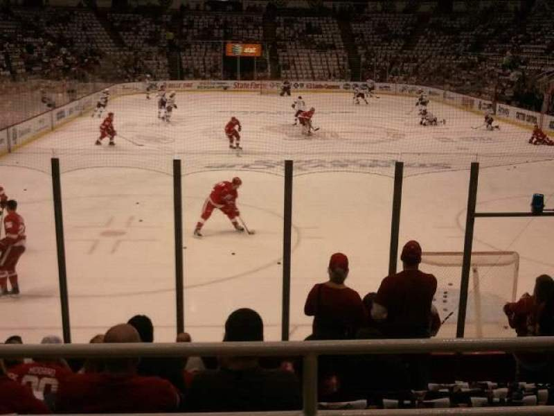 Seating view for Joe Louis Arena Section 101 Row 10 Seat 7