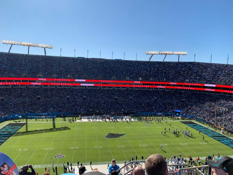 Seating view for Bank of America Stadium Section 516 Row 6 Seat 5