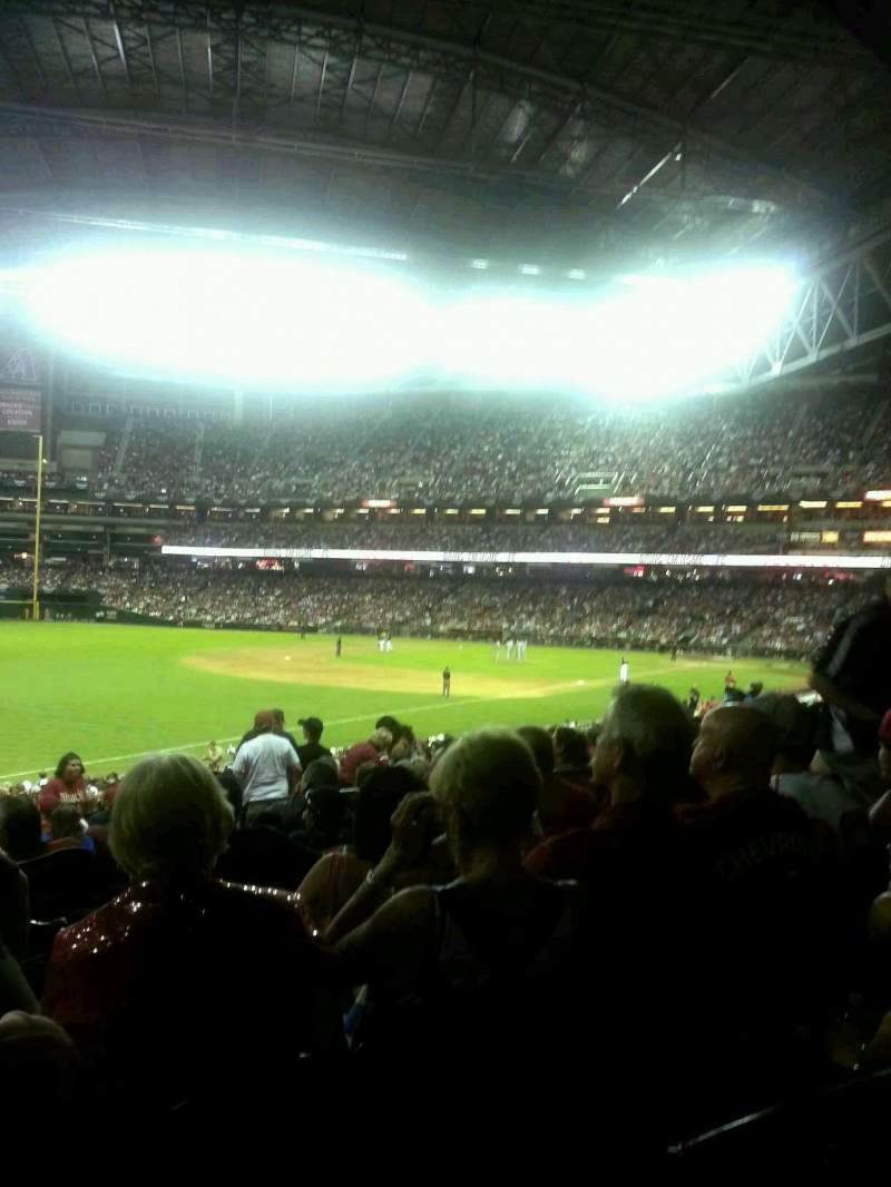 Seating view for Chase Field Section 134 Row 32 Seat 7 & 8