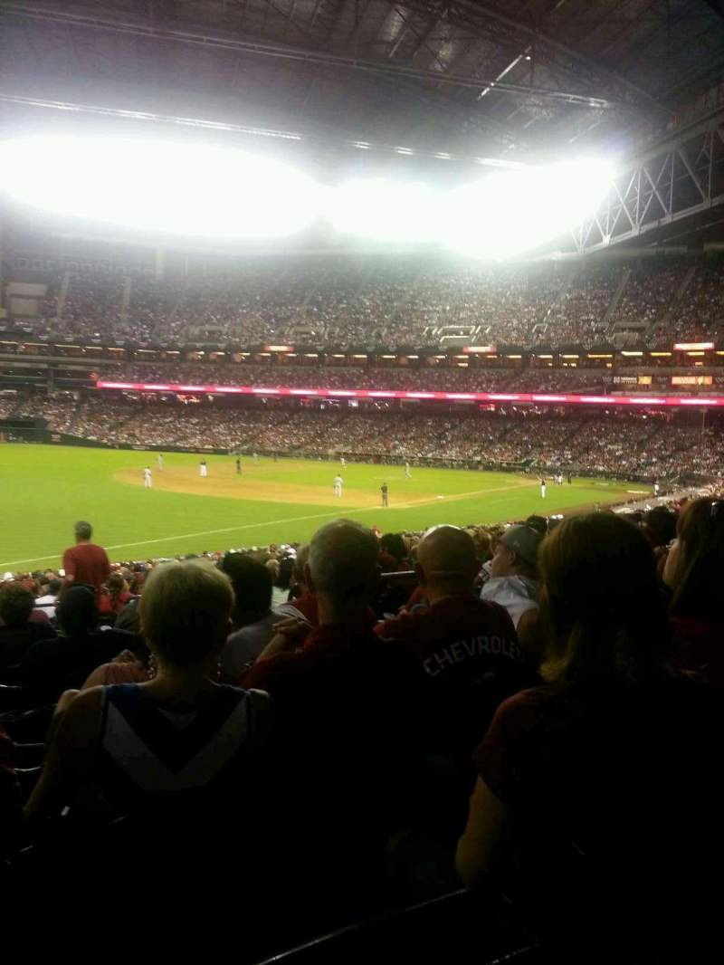 Seating view for Chase Field Section 134 Row 32 Seat 7 and 8