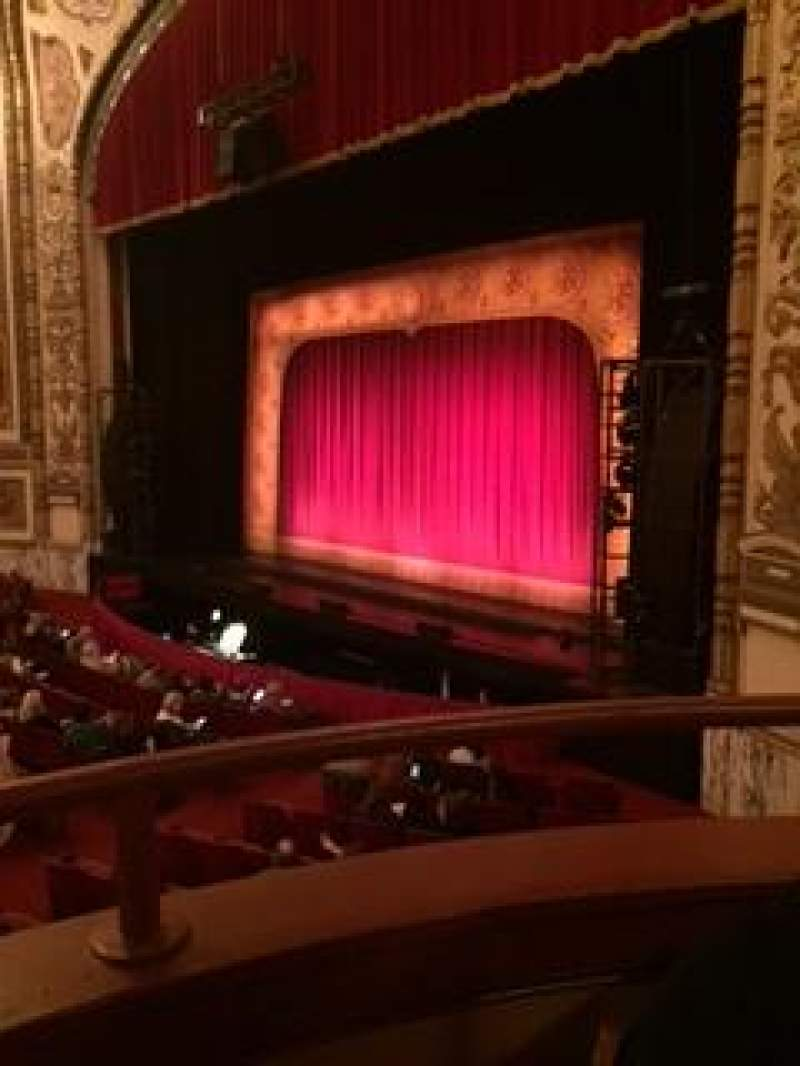 Seating view for Cadillac Palace Theater Section dress circle right Row bb Seat 2