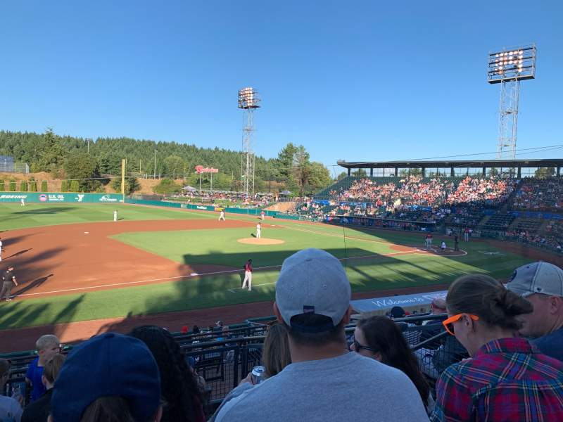 Seating view for Cheney Stadium Section A Row 6  Seat 6