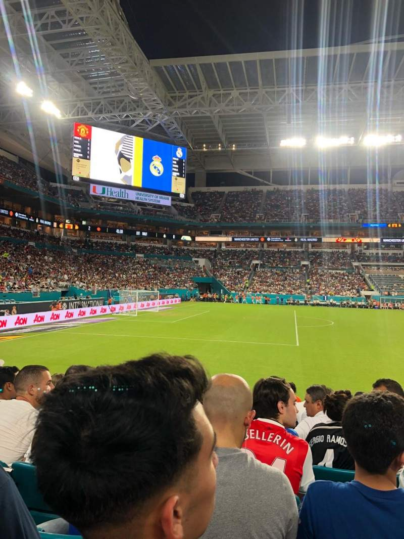 Seating view for Hard Rock Stadium Section 121 Row 8 Seat 12