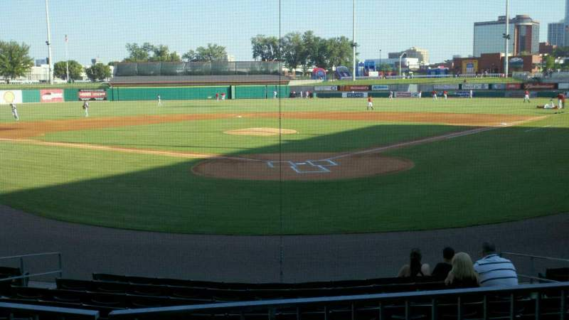 Seating view for Dickey-Stephens Park Section 210 Row c Seat 6