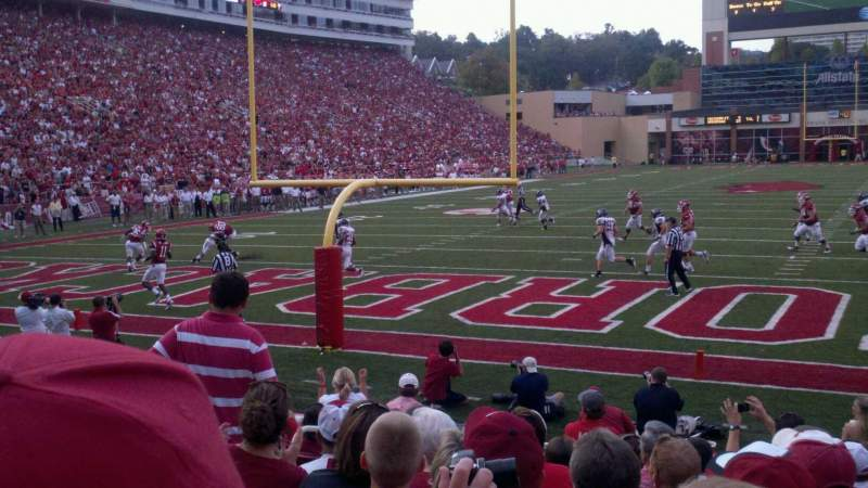 Seating view for Razorback Stadium Section 122 Row 10 Seat 15