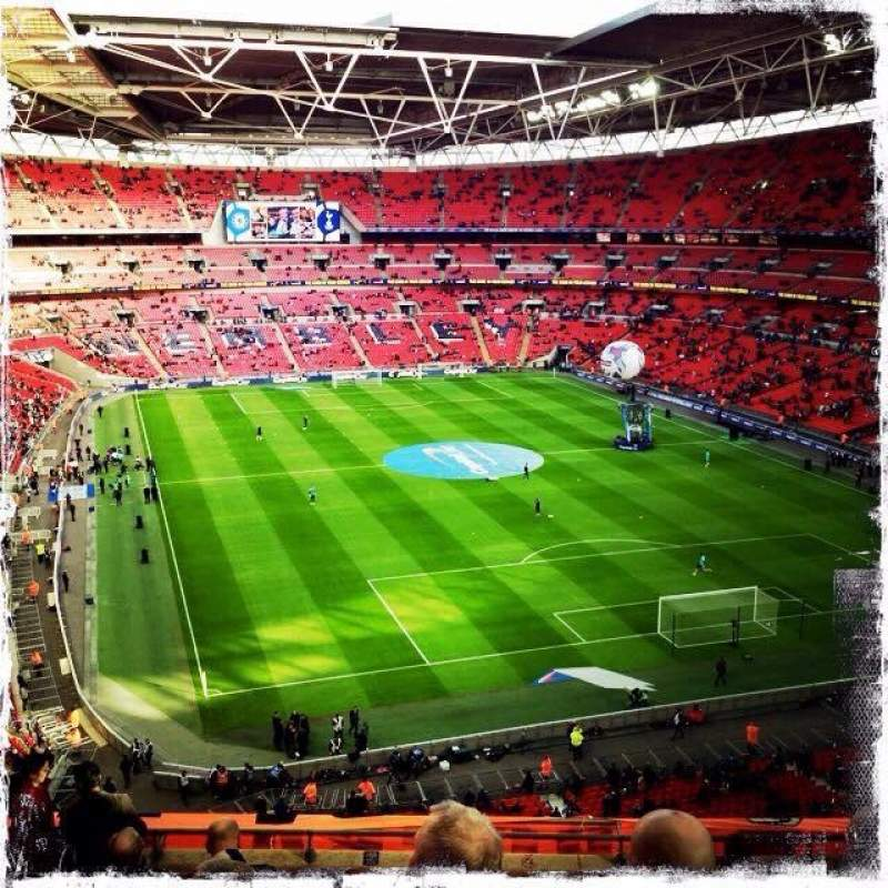 Seating view for Wembley Stadium Section 542 Row 10 Seat 83