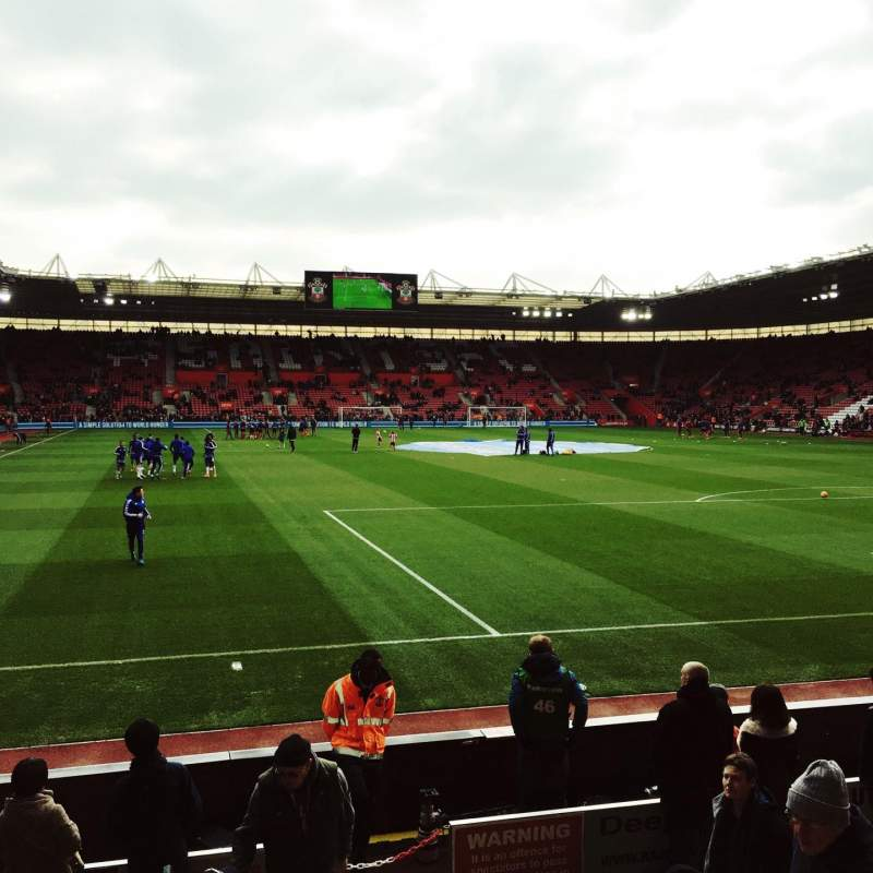 Seating view for St Mary's Stadium Section 45 Row H Seat 1167