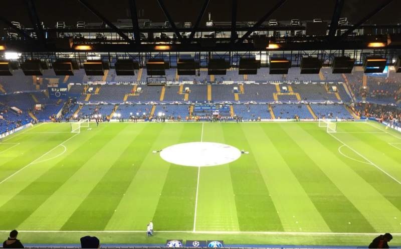 Seating view for Stamford Bridge Section WEST STAND UPPER 4 Row 14 Seat 106