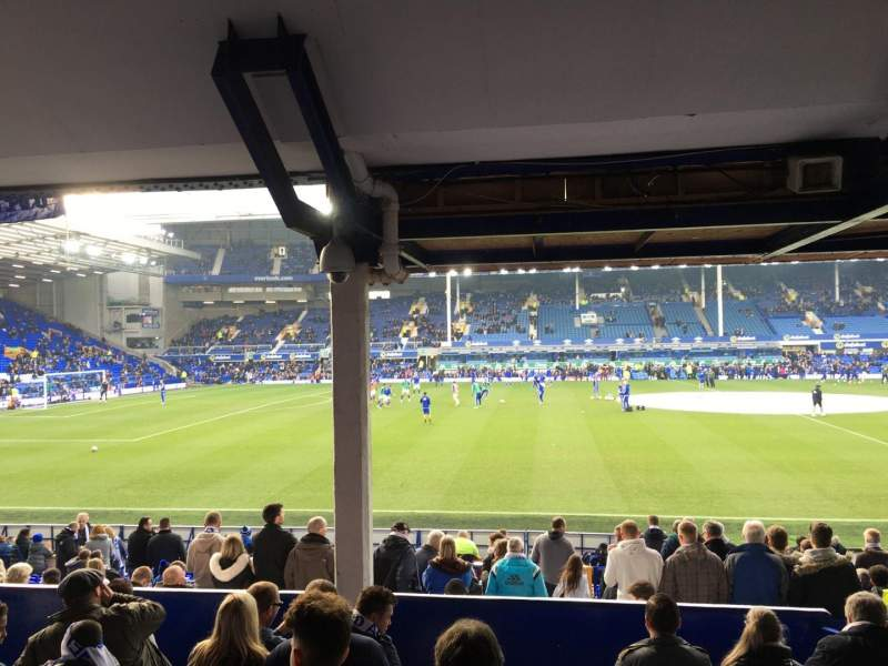 Seating view for Goodison Park Section Lb2 Row H Seat 120
