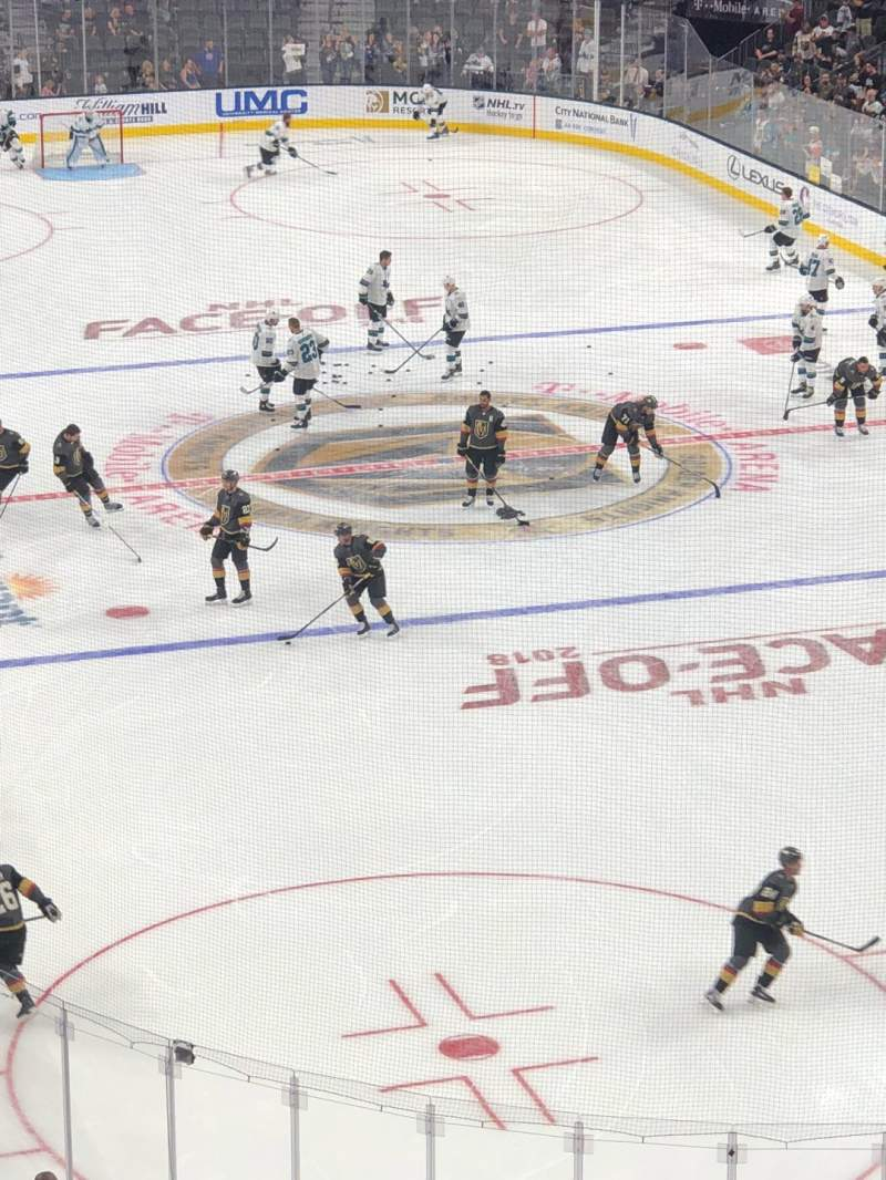Seating view for T-Mobile Arena Section 119 Row C Seat 5