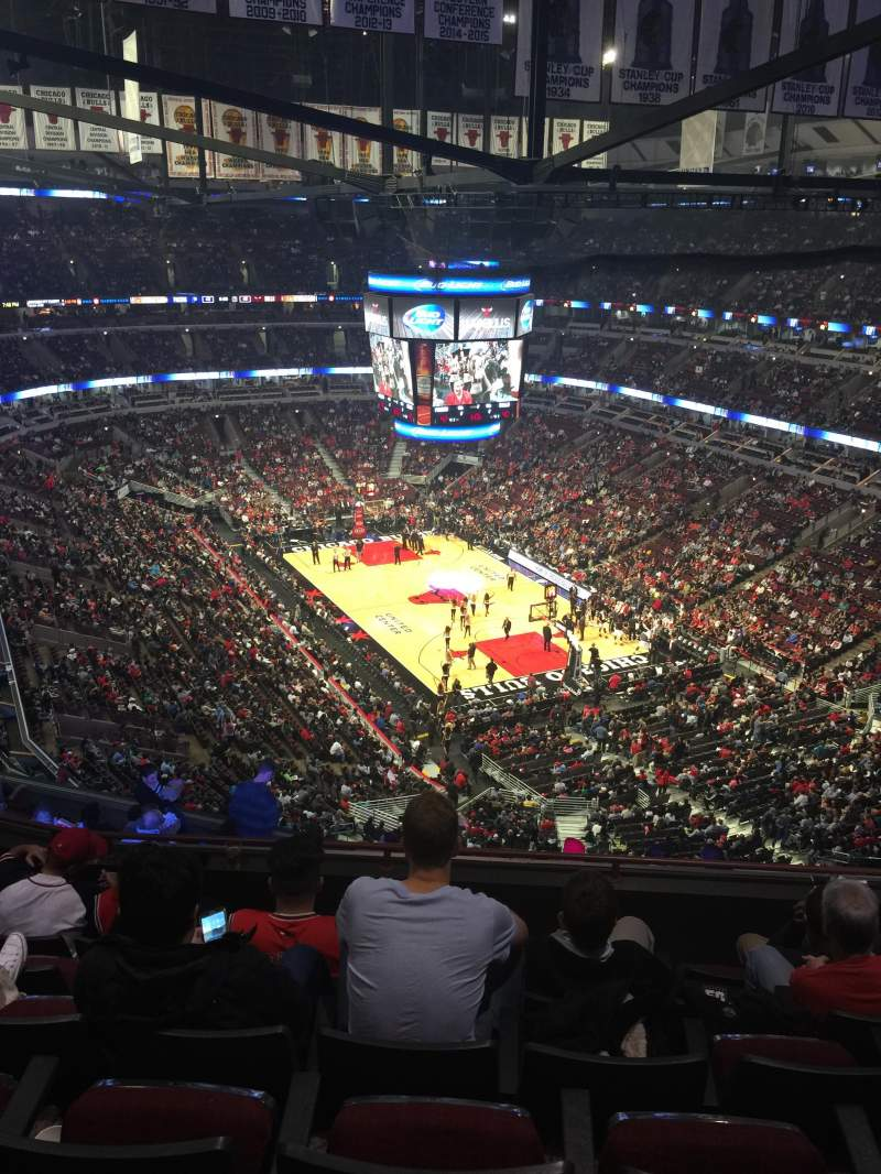 Seating view for United Center Section 312 Row 13 Seat 5