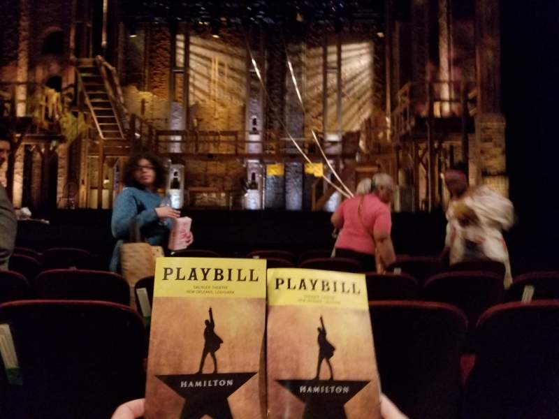 Seating view for Saenger Theatre (New Orleans) Section Orchestra C Row F Seat 110-111