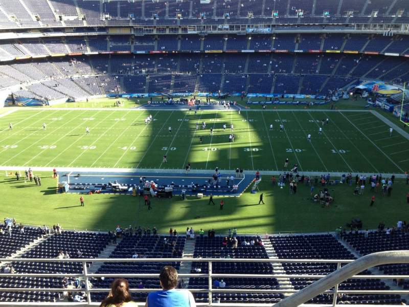 Seating view for Qualcomm Stadium Section V7 Row 5 Seat 20
